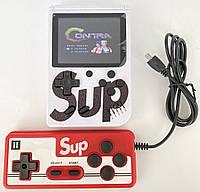 Ігрова консоль ретро приставка з додатковим джойстиком dendy SEGA 400 ігор 8 Bit SUP Game чорний Білий