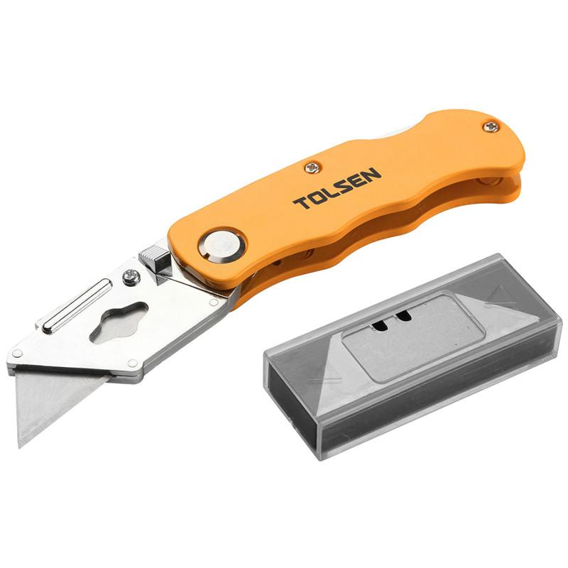 Нож инструментальный раскладной Tolsen , 5 лезвий SK5, 61 мм (30007)
