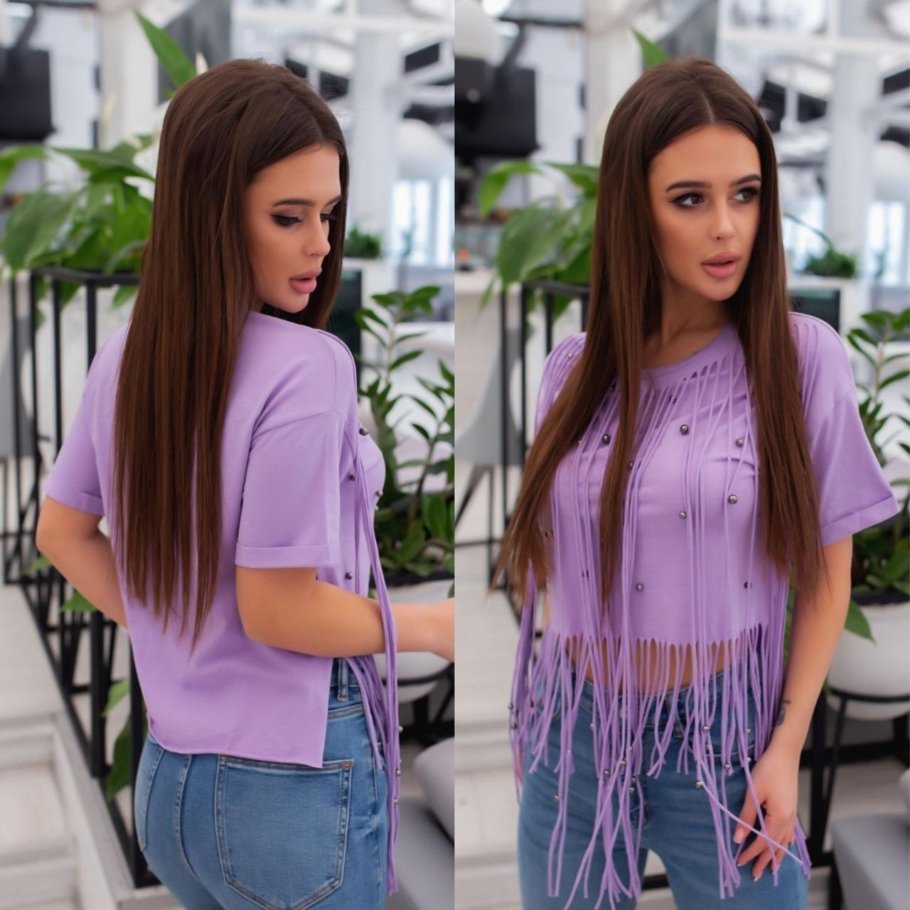 Фиолетовая Летняя модная стильная женская 3D футболка 2020