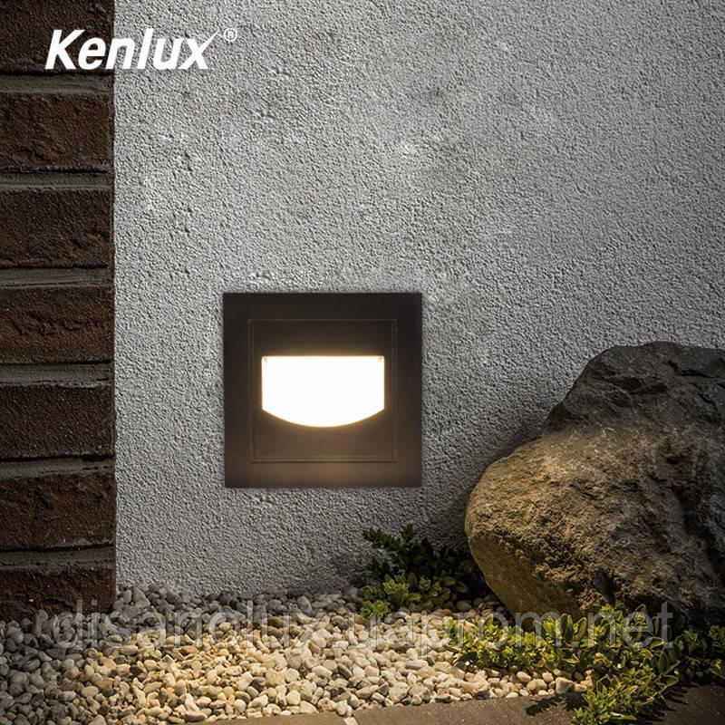 Світильник для підсвічування фасадів і ступенів К-2413 LED 5w 3000K IP65 сірий