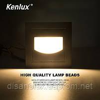 Світильник для підсвічування фасадів і ступенів К-2413 LED 5w 3000K IP65 сірий, фото 2