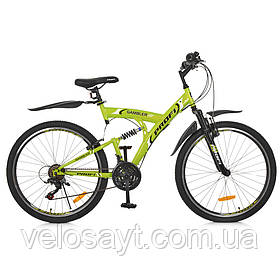 Гірський Велосипед 26 Д. G26GAMBLER S26MIX салатовий