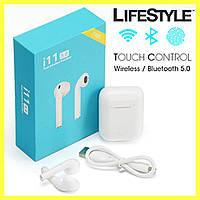Беспроводные сенсорные наушники AirPods MDR  i11 | Bluetooth 5.0