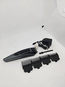 Машинка для стрижки аккумуляторная с насадками Gemei GM-6053. Машинка для стрижки волос беспроводная.