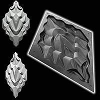"""Форма """"Титан №1"""" для декоративных 3D панелей из гипса(форма для 3д панелей из абс пластика)"""