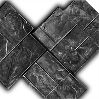 """Комплект резиновых штампов """"Тёсаный камень"""" для декоративного печатного бетона. Формы для оттиска на бетоне."""
