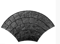 """Резиновый штамп """"Веер большой"""" форма для печатного бетона"""
