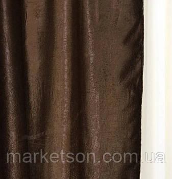 Готові сонцезахисні штори з щільної тканини блекаут софт на тасьмі, фото 2