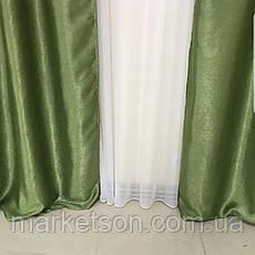 Готові сонцезахисні штори з щільної тканини блекаут софт на тасьмі, фото 3