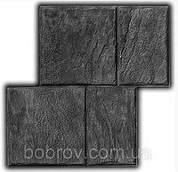 Старый Бердянск №1 - штамп 490х490 мм; имитация песчаной тротуарной плитки; форма для печатного бетона