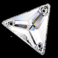 Пришивные хрустальные треугольники Preciosa (Чехия) 16 мм Crystal 2-й сорт