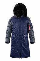 Оригинальная мужская куртка AIRBOSS N-7B Shuttle Challenger 17300763221T (синий/серый стальной), фото 1
