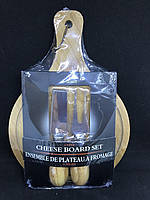 Сырный набор для одной персоны (лопатка, вилка, доска), фото 1