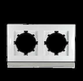 Рамка двомісна для розеток та вимикачів Erste Triumph (9202-82)