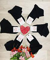 Носки женские демисезонные хлопок средние Житомир ТМ LOMANI размер 23-25 (36-40) чёрные