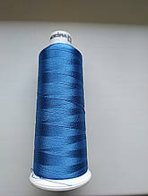 Нитки для  вышивки   Madeira Classic №12.  цвет 1133 ( ГОЛУБОЙ ).   2000 м