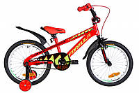 """Велосипед детский с боковыми колесами Formula Wild 18"""" красно-черный"""