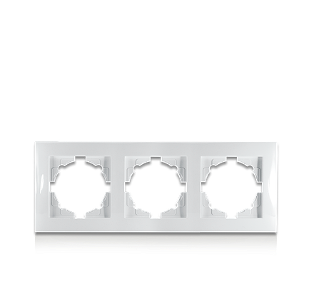 Рамка тримісна для розеток та вимикачів Erste Triumph (9202-83), фото 2