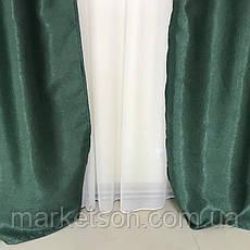 Готовые шторы солнцезащитные из плотной ткани блэкаут софт на тесьме, фото 3
