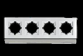 Рамка чотиримісна для розеток та вимикачів Erste Triumph (9202-84)