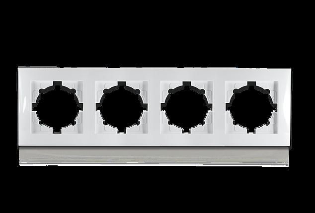 Рамка чотиримісна для розеток та вимикачів Erste Triumph (9202-84), фото 2