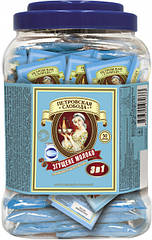 Кава 3 в 1 Петровська Слобода зі смаком згущеного молока 50 пакетиків у пластиковій упаковці