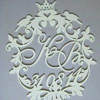Топ! Свадебная деревянная Монограмма 50х50 см №7, Белая