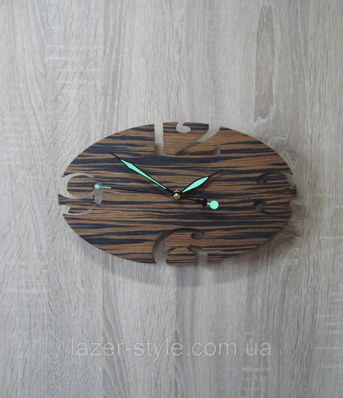 """Авторские часы """" Овал темный  арабские цифры"""""""