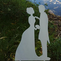 Вау! Деревянный Топпер на Свадебный торт 25х12 см №1, Белый