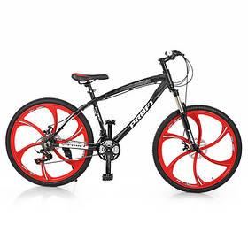 """Гірський Велосипед 26 Діаметр """"PROFI"""" 17"""" рама алюміній чорний"""