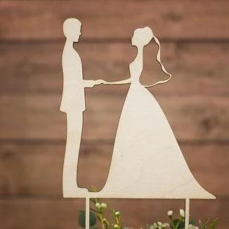 Вау! Топпер Деревянный для Декора тортика 25х12 см №17, Белый