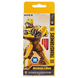 Карандаши цветные Kite Transformers BumbleBee Movie 12 цветов TF19-051