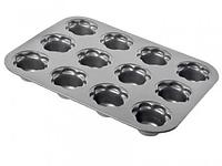 Форма для выпечки кексов, с антипригарным покрытием, Размер: 35,5х27х3,5 см