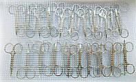 Ножницы маникюрные цельнометаллические на листе