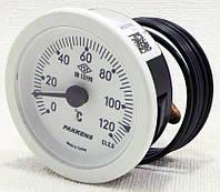 Термометр капиллярный PAKKENS Ø52мм / Tmax=120°С с капилляром длинной 1 метр