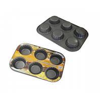 Форма для выпечки кексов, с антипригарным покрытием, 26x3.5 см
