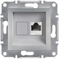 Розетка компьютерная, RJ45, кат.6, UTP Алюминий Asfora, EPH4700161