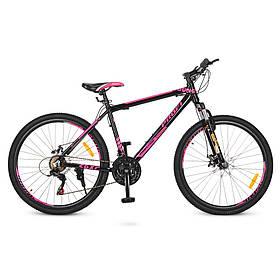Гірський Велосипед 26 Д G26YOUNG A26.4 чорно-рожевий
