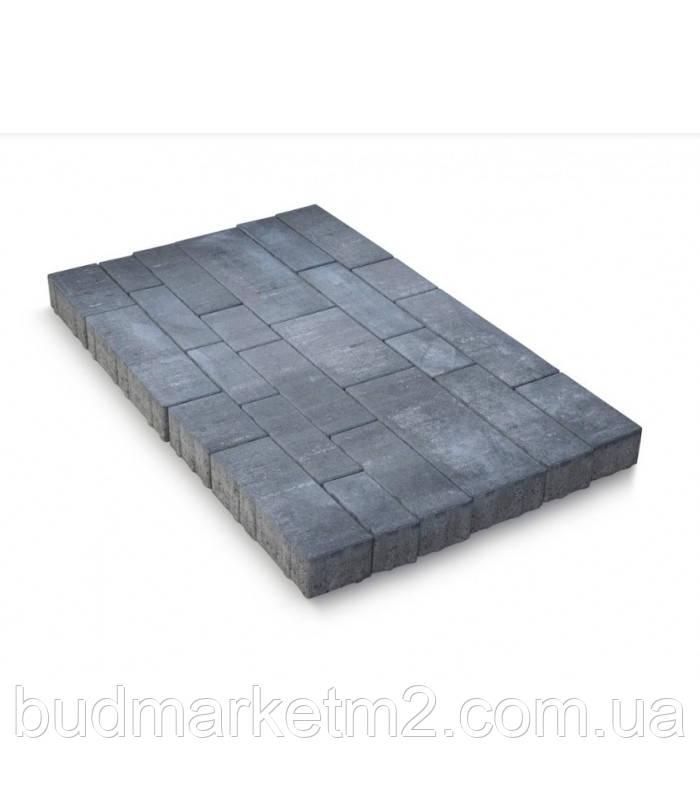 Тротуарная плитка Сити Стандарт 8 см серая