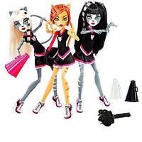 Набор кукол Monster High Мурсефона, Мяулодия и Торалей (Toralei & sisters) Монстр Хай