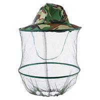 Рыбацкая шляпа с антимоскитной сеткой (накомарник)
