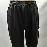 Чоловічі штани під манжет (Більше розміри) в стилі Nike відмінної якості чорні, фото 5