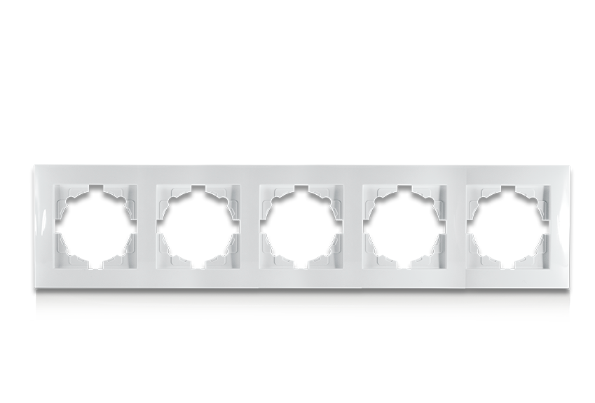 Рамка п'ятимісна для розеток та вимикачів Erste Triumph (9202-85)