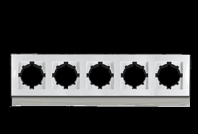 Рамка п'ятимісна для розеток та вимикачів Erste Triumph (9202-85), фото 2
