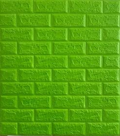 3D панель самоклеящая Обои под декоративный кирпич Самоклейка Зеленый 3Д кирпич