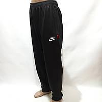 Спортивные штаны под манжет в стиле Nike (Больших размеров) 56,58,60,62,64 отличного качества черные
