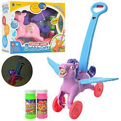 Детская Лошадка-каталка с мыльными пузырями FH888 Bubble Cart