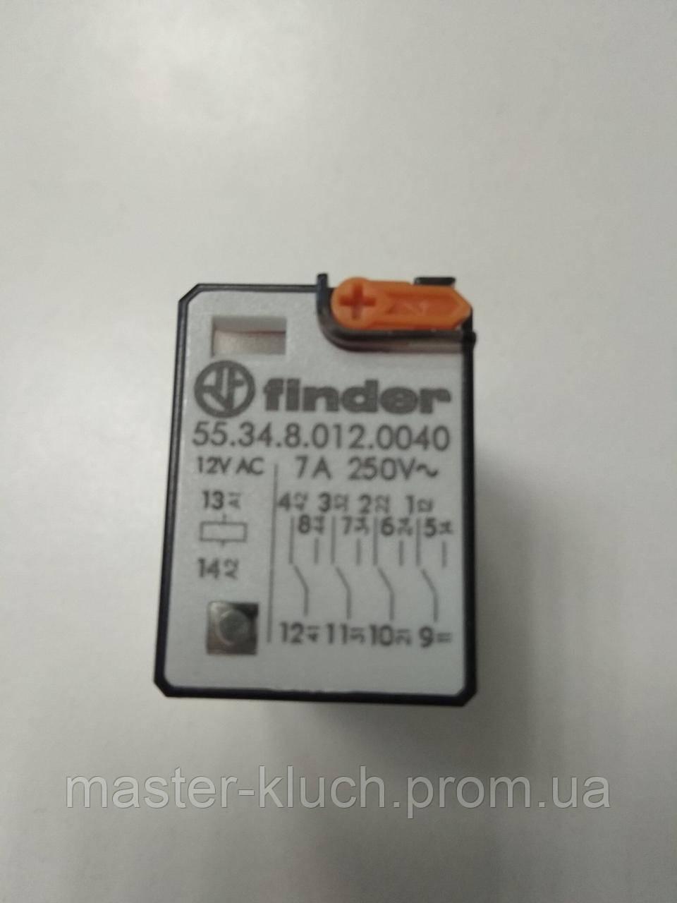 Реле миниатюрное универсальное Finder 55.34.8.012.0040