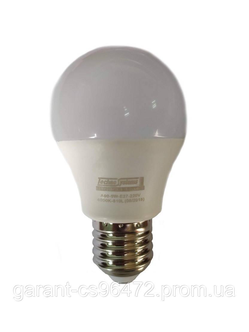 Лампа светодиодная LED Bulb-A60-9W-E27-220V-4000K-810L ICCD (шар) TNSy