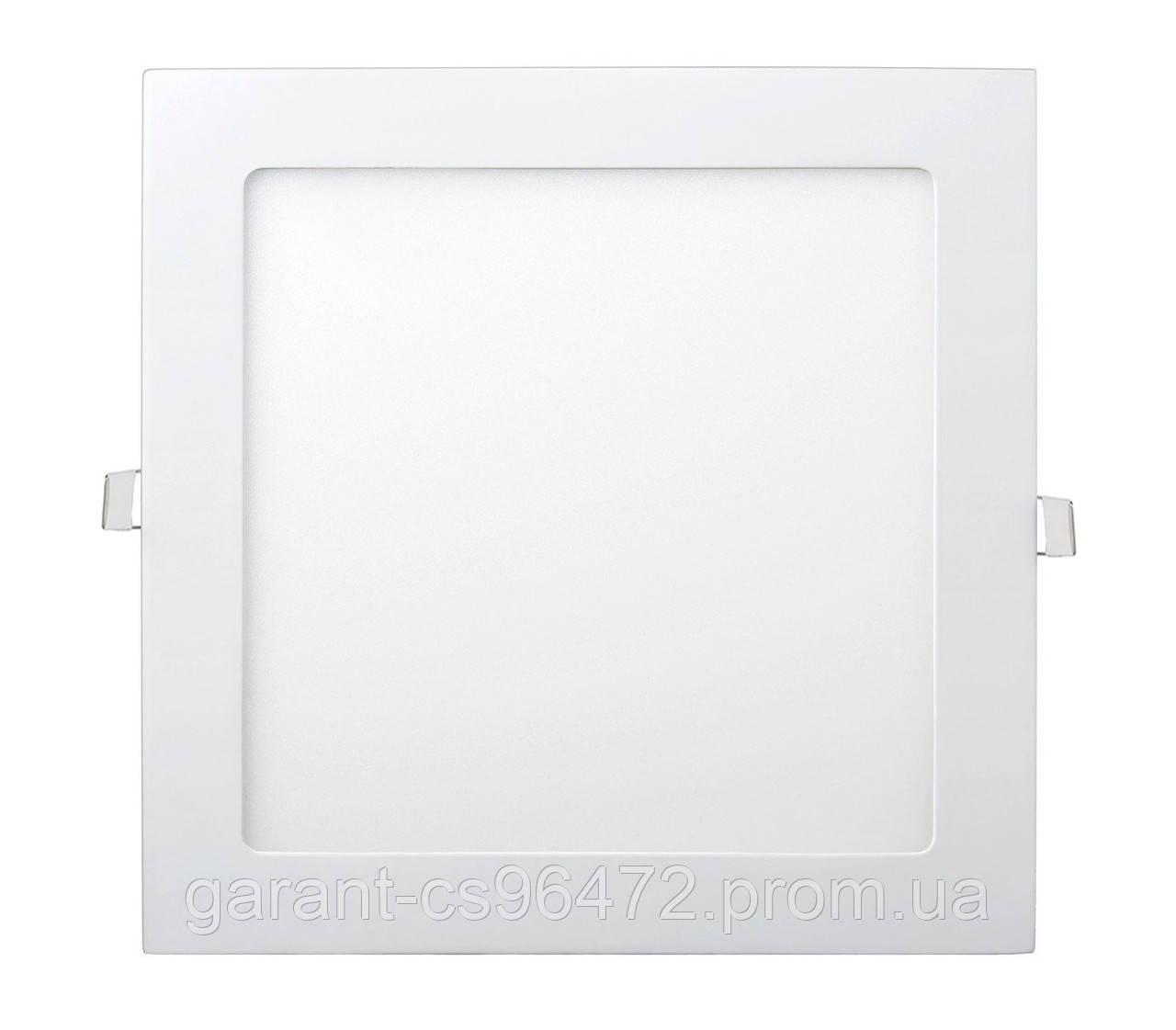 Светильник врезной LED Square Downlight 18W-220V-1300L-4000K Alum TNSy